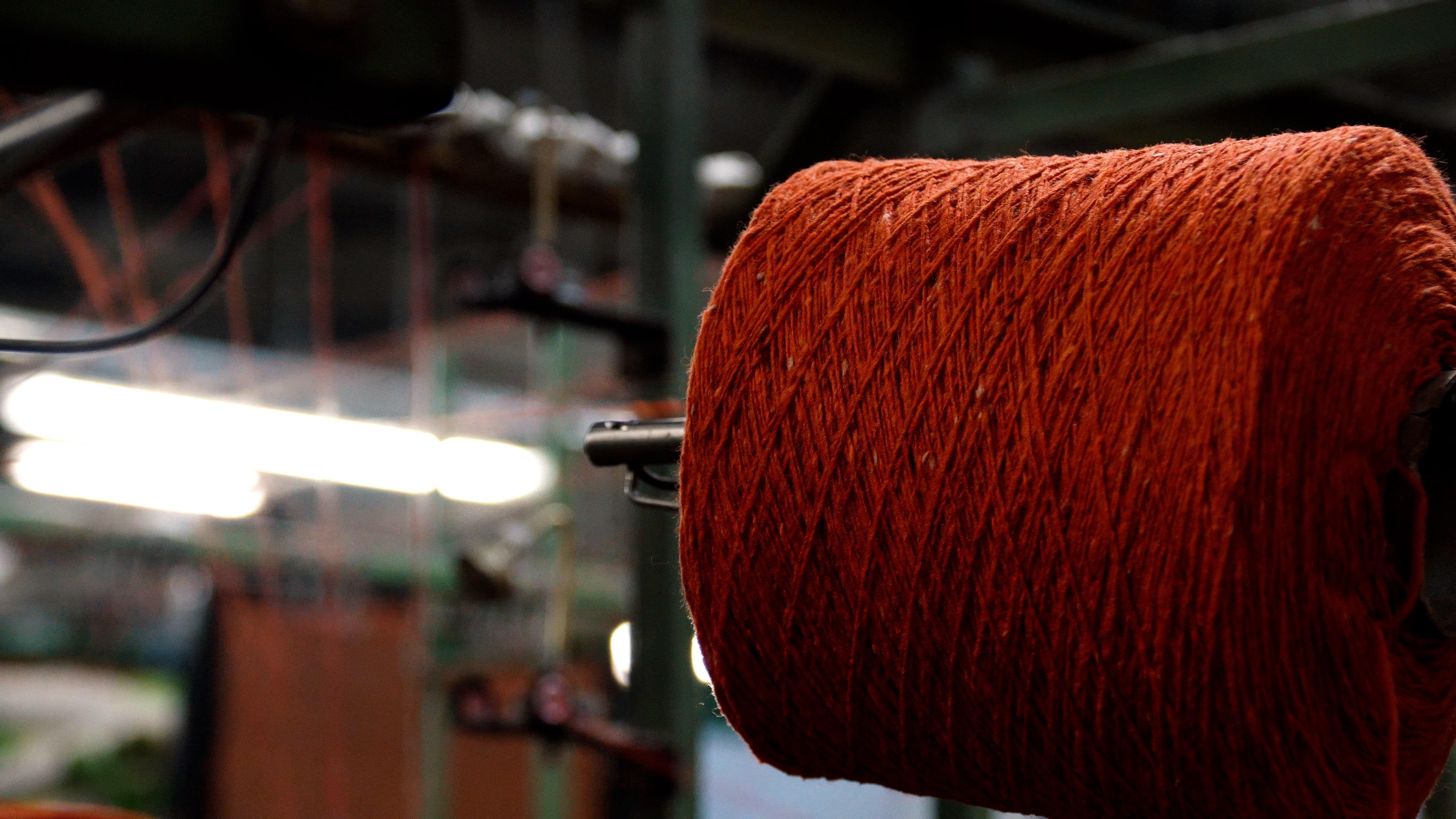 Winding at Irish wool mill, Kilcar.